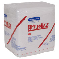 Task Wipe WypAll® X70 Heavy Duty White NonSterile Cellulose / Polypropylene 12 X 12-1/2 Inch Reusable 41200 Pack/76