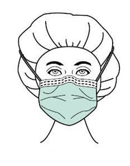 Surgical Mask Sensitive Skin Plus Pleated Tie Closure One Size Fits Most White NonSterile Not Rated Adult 65 3130 Box/50