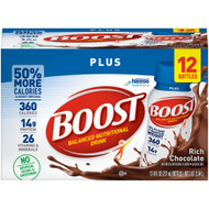 Oral Supplement Boost® Plus Rich Chocolate Flavor Ready to Use 8 oz. Bottle 12187365 Pack/12