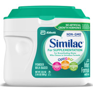 Infant Formula Similac® For Supplementation Non-GMO 1.45 lbs. Canister Powder 63013 Case/4