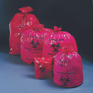 Infectious Waste Bag McKesson 10 to 15 gal. Red Bag Polymer Film 24 X 32 Inch 03-4404 Case/500