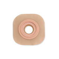 Ostomy Barrier New Image™ CeraPlus™ Pre-Cut, Extended Wear Adhesive Tape Borders 57 mm Flange Red Code System 1-1/8 Inch Opening 11505 Each/1