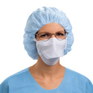 Surgical Mask Duckbill Tie Closure One Size Fits Most Blue NonSterile Not Rated Adult 48220 Box/50