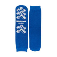 Slipper Socks McKesson Terries Adult X-Large Royal Blue Above the Ankle 40-3816 Pair/1