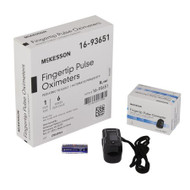Finger Pulse Oximeter McKesson Battery Operated Without Alarm 16-93651 Each/1