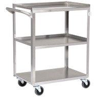 Utility Cart entrust Performance Stainless Steel 32.63 Inch 3-Shelves Stainless Steel 81-63500 Each/1 - 63513401
