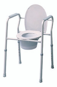 Commode Chair Fixed Arm Steel Frame Steel Back Bar 15.5 to 23.5 Inch 7103A-4 Case/4