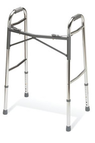 Bariatric Dual Release Folding Walker Adult Basic Extra Duty Aluminum 400 lbs. 32.25 to 39.25 Inch G07767 Case/2