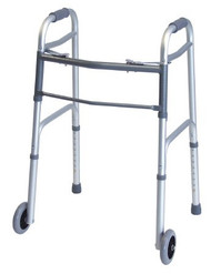 Dual Release Folding Walker Adult Lumex Everyday Aluminum 300 lbs. 32 to 39 Inch 716270A-4 Case/4 - 62703800