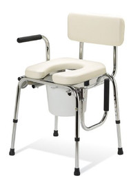 Commode Chair Guardian Drop Arm Steel Frame Removable Back 20 to 25 Inch G98204 Case/1