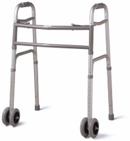 Bariatric Dual Release Folding Walker Adult Standard Aluminum 500 lbs. 33.5 to 43.5 Inch MDS86410XWW Each/1