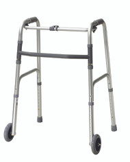 Dual Release Folding Walker Adult Aluminum 350 lbs. 32 to 39 Inch 432120 Each/1