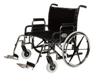 Bariatric Wheelchair Paramount XD Extra Heavy Duty Removable Desk Arm Mag Black 26 Inch 650 lbs. 5PX10630 Each/1