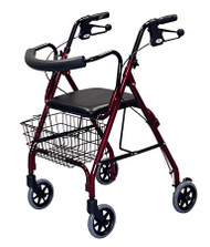 4 Wheel Rollator Guardian Deluxe Blue Deluxe MDS86810B Case/1