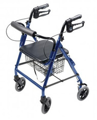 4 Wheel Rollator Lumex Walkabout Royal Blue Hemi Height Aluminum RJ4302B Each/1