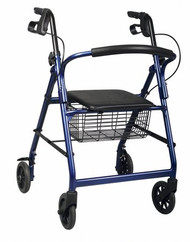 4 Wheel Rollator Guardian Basic Burgundy Adjustable Height MDS86850E Each/1