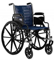 Wheelchair Tracer EX2 Dual Axle Padded Fixed Height Removable Desk Arm Mag Midnight Blue 18 Inch 250 lbs. TREX28RP Each/1