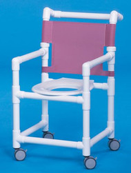 Shower Chair Select Fixed Arm PVC Frame Mesh Back 20 Inch Clearance ESC20 Each/1 - 32063309