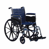 Wheelchair Tracer EX2 Dual Axle Padded Fixed Height Removable Full Arm Mag Midnight Blue 18 Inch 250 lbs. TREX28RFP Each/1