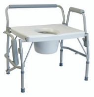 Commode Chair Lumex Drop Arm Stainless Steel Frame Removable Back 19.5 to 23 Inch 6438A Each/1