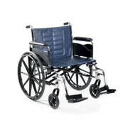 Bariatric Wheelchair Tracer IV Heavy Duty Padded Fixed Height Removable Full Arm Mag Midnight Blue 22 Inch 350 lbs. T422RFAP Each/1