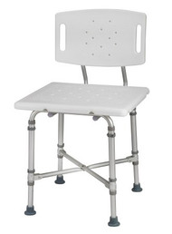 Bariatric Shower Chair HealthSmart Without Arms Aluminum Frame With Backrest 18 to 23 Inch 524-1816-1999 Each/1