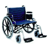 Bariatric Wheelchair Tracer IV Heavy Duty Padded Fixed Height Removable Desk Arm Mag Midnight Blue 24 Inch 450 lbs. T4X24RDAP Each/1