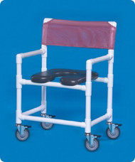 Shower Chair Fixed Arm PVC Frame Mesh Back 41 Inch VL OF9200 OS Each/1