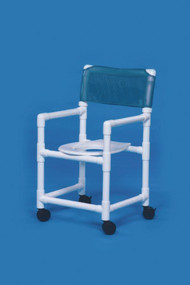 Commode / Shower Chair Standard Fixed Arm PVC Frame Mesh Back 17 Inch Clearance VL SC17 P WINEBERRY Each/1
