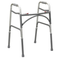 Bariatric Dual Release Folding Walker Adult drive Aluminum 500 lbs. 32 to 39 Inch 10220-1 Each/1
