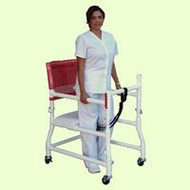 "Non Folding Walker Adjustable Height 400 Series PVC 300 lbs. 28.75 to 33.25 Inch 418-OR-3""TW Each/1"