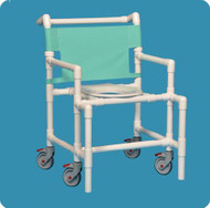 Bariatric Shower Chair Original Oversize Fixed Arm PVC Frame Mesh Back 20 Inch Clearance SC9200 OS Each/1 - 92923309
