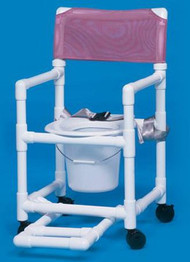 Commode / Shower Chair Standard Fixed Arm PVC Frame Mesh Back 17 Inch Clearance VL SC17 P FRSB WINEBERRY Each/1