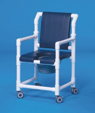 Commode / Shower Chair Deluxe Fixed Arm PVC Frame Foam 17 Inch SCC700 Each/1 - 71003309