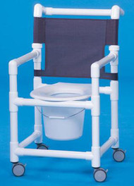 Commode / Shower Chair Select Fixed Arm PVC Frame Mesh Back 17 Inch Clearance ESC17 P Each/1 - 17413309