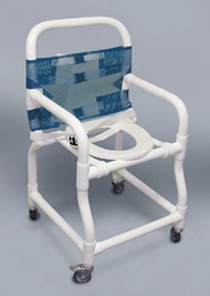 Commode / Shower Chair PVC Removable Back 39 Inch 200 Each/1