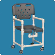 Shower Chair Elite Fixed Arm PVC Frame With Backrest 17 Inch Clearance ELT817G Each/1