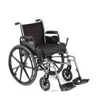 Lightweight Wheelchair Tracer SX5 Dual Axle Padded Fixed Height Flip Back Full Arm Mag 20 Inch 300 lbs. TRSX50FBFP Each/1