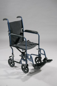 Lightweight Transport Chair Aluminum, Red 300 lbs. Fixed Arms, Padded Black ATC19-RD Case/1