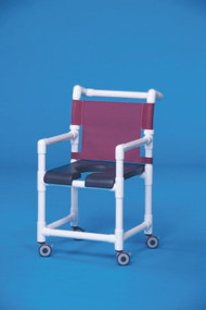 Shower Chair Deluxe Fixed Arm PVC Frame Mesh Back 17 Inch Clearance SC717G Each/1 - 71763309