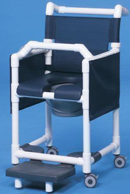 Commode / Shower Chair Deluxe Fixed Arm PVC Frame Mesh Back 20 Inch Clearance SCC777G Each/1 - 77623309