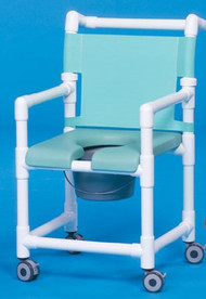 Shower Chair Deluxe Fixed Arm PVC Frame Mesh Back 20 Inch Clearance SC720N Each/1 - 72113309