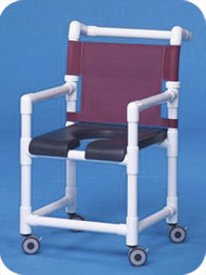 Shower Chair Deluxe Fixed Arm PVC Frame Mesh Back 20 Inch Clearance SC720G Each/1 - 72043309