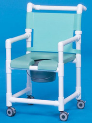 Shower Chair Deluxe Fixed Arm PVC Frame Mesh Back 20 Inch Clearance SC720N Each/1 - 72143309