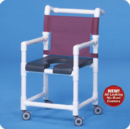 Shower Chair Deluxe Fixed Arm PVC Frame Mesh Back 20 Inch Clearance SC720G Each/1 - 72083309