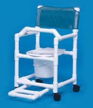 Commode / Shower Chair Standard Fixed Arm PVC Frame Mesh Back 17 Inch Clearance VL SC17 P FRLB Each/1 - 17033339