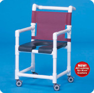 Shower Chair Deluxe Fixed Arm PVC Frame Mesh Back 20 Inch Clearance SC720G Each/1 - 72073309