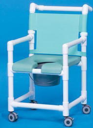 Shower Chair Deluxe Fixed Arm PVC Frame Mesh Back 17 Inch Clearance SC717N Each/1 - 71183309