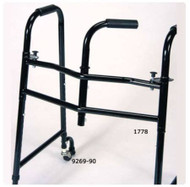 Dual Release Folding Walker Adjustable Height Stroke Aluminum 400 lbs. 30 to 40 Inch 1778 Each/1