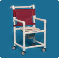 Commode / Shower Chair Select Fixed Arm PVC Frame Mesh Back 20 Inch Clearance ESC20 P Each/1 - 22203309
